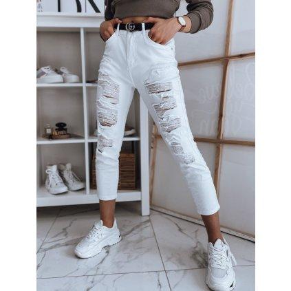 Dámské riflové kalhoty džíny DERRA bílé Dstreet