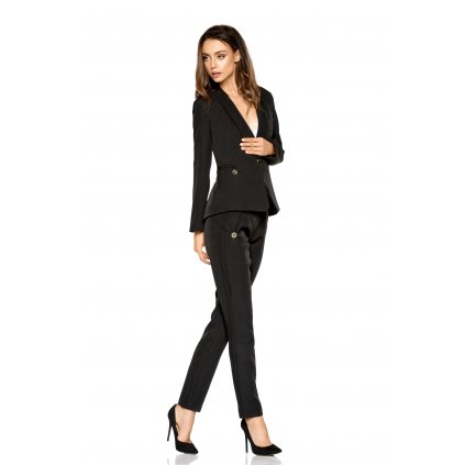 Klasické kalhoty s ozdobnými proužky na nohavicich