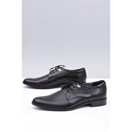 Elegantní černé boty Escort Damaso