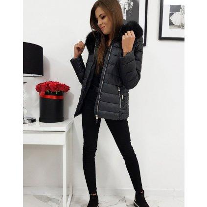 Originální dámská zimní prošívaná bunda na zip
