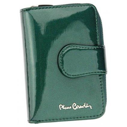 Lakovaná vertikální dámská peněženka z pravé kůže - Pierre Cardin