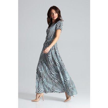 Dlouhé šaty s krátkými rukávy L042 LENITIF