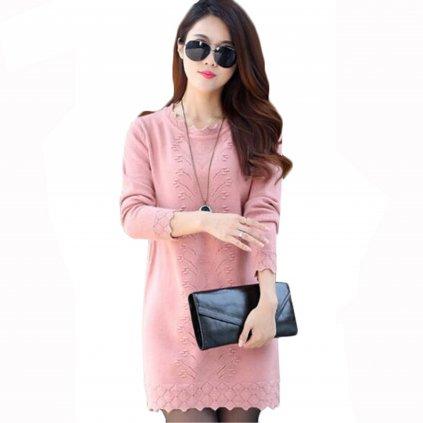 Dámské svetrové mini šaty FashionEU
