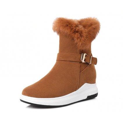 Dámské zimní boty s přezkou a kožíškem - 3 barvy FashionEU