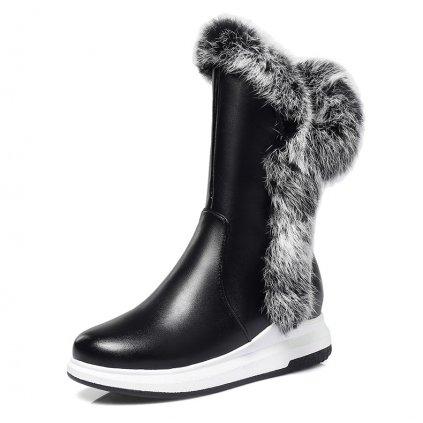 Dámské zimní boty s extravagantním kožíškem - 2 barvy FashionEU