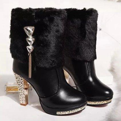 Dámské luxusní zimní boty na podpatku - 2 barvy FashionEU
