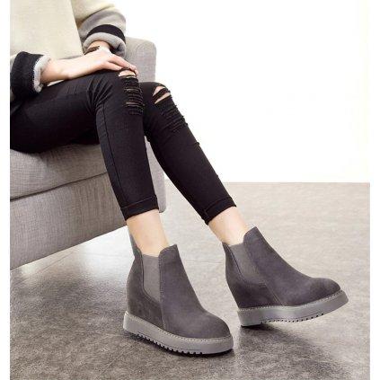 Dámské zimní kotníkové boty - 3 barvy FashionEU