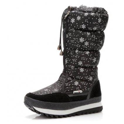 Dámské zimní boty s vločkami FashionEU