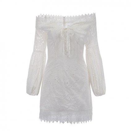 Krajkové šaty s odhalenými rameny FashionEU