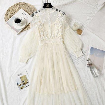 Dámské šaty s růžemi FashionEU