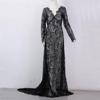 Krajkové šaty s vlečkou FashionEU