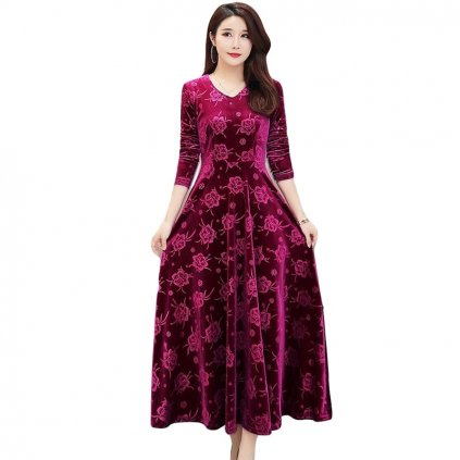 Dlouhé elegantní šaty FashionEU
