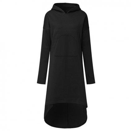 Mikinové šaty asymetrické FashionEU