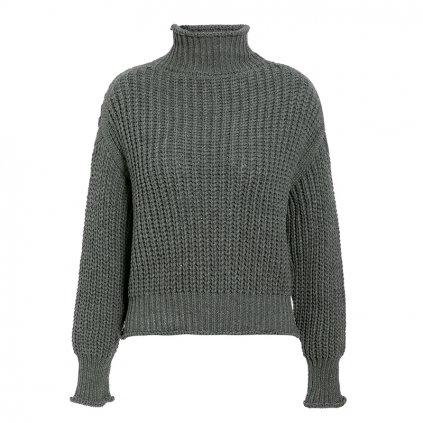 Dámský pletený svetr s rolákem FashionEU