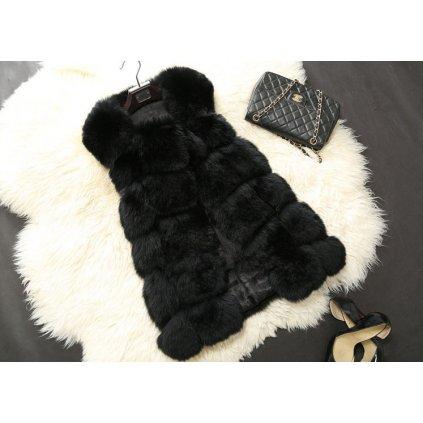 Luxusní dámský kožich - Černý FashionEU