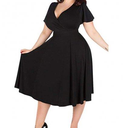 Dámské společenské šaty nadměrné velikosti FashionEU