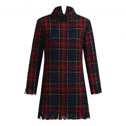 Podzimní šaty kostkované FashionEU