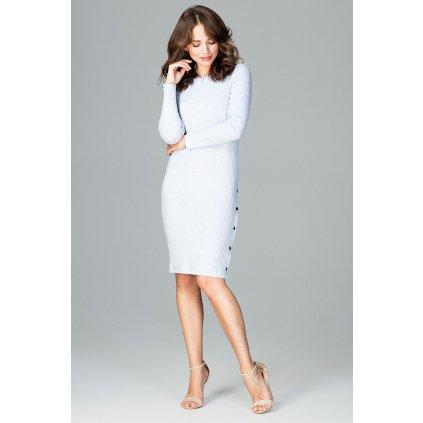 Pletené šaty s ozdobnými knoflíky K464  LENITIF