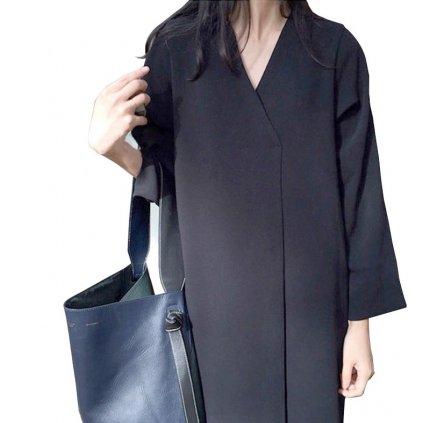 Dámské černé maxi šaty FashionEU
