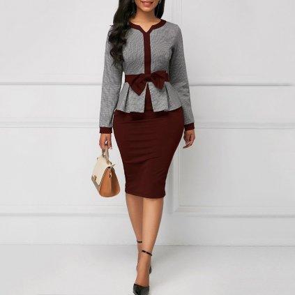 Elegantní šaty pouzdrové FashionEU