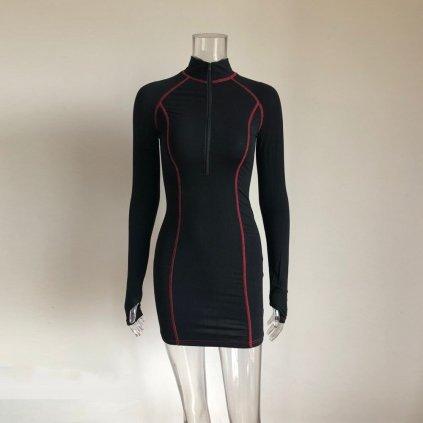 Mini šaty se stojáčkem FashionEU