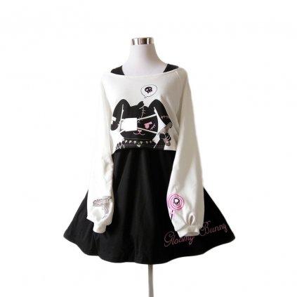 Dvoudílné šaty s potiskem FashionEU