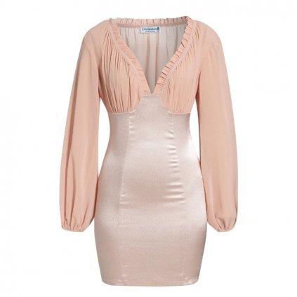 Mini šaty s volnými rukávy FashionEU