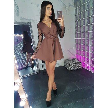 Mini šaty zavinovací FashionEU