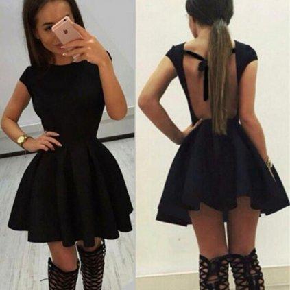 Mini šaty s širokou sukní FashionEU
