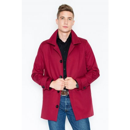 Pánský kabát na knoflíky V028 VISENT