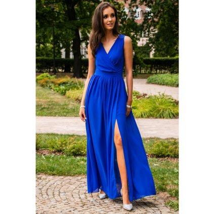 Šaty s obálkovým výstřihem a vázáním na zádech - 2XL