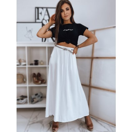 Maxi sukně WERSA v bílé barvě Dstreet - ONESIZE