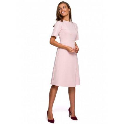 Zavinovací šaty STYLE S240 - PUDROVÉ L