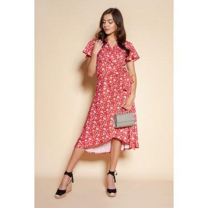 Obálkové letní šaty s asymetrickým lemem SUK198 LANTI