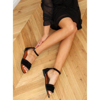Dámské černé sandály S060195
