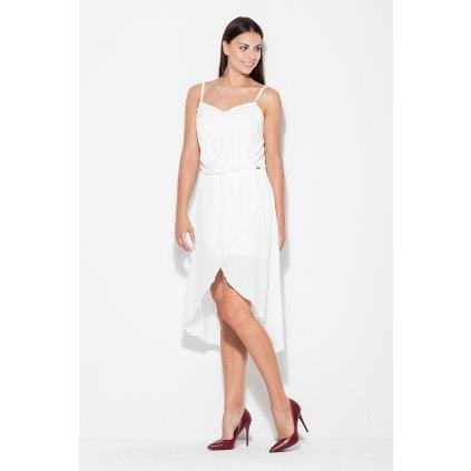 Asymetrické společenské šaty na ramínka K395 KATRUS
