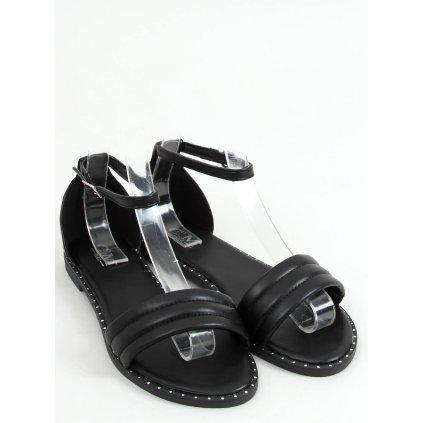 Černé sandály s páskem kolem kotníku 55-93