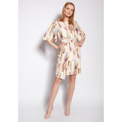 Vypasované šaty s motýlími rukávy SUK188 LANTI