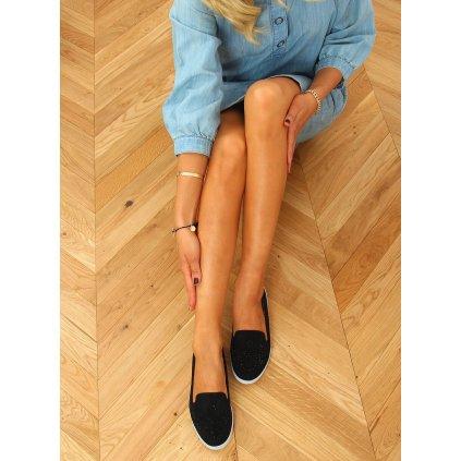 Černé prolamované letní boty DY-09