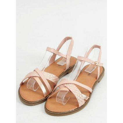 Růžové dámské sandály WL060