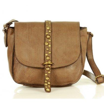 Kabelka listonoška saddle bag taška z pravé kůže MARCO MAZZINI