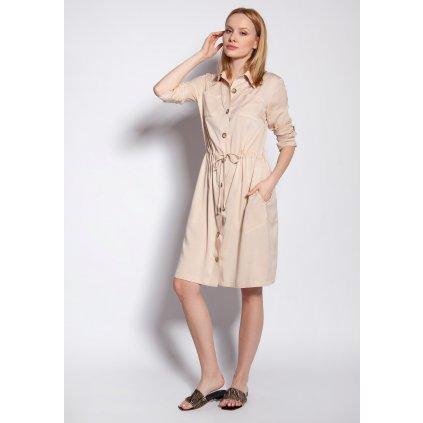Šaty se zapínáním na knoflíky SUK183 LANTI