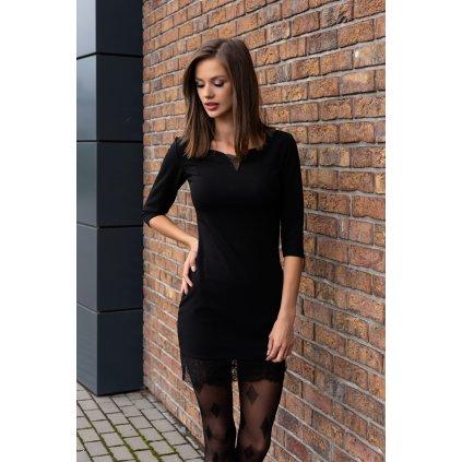Mini pouzdrové šaty s krajkou Beverlem 90442 MERRIBEL