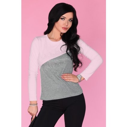 Dámské dvoubarevné tričko s dlouhým rukávem CG017 MERRIBEL