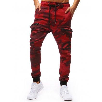 Pánské jogger kapsáče - červené M