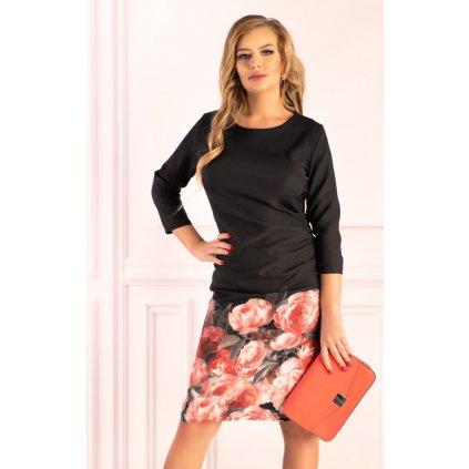 Elegantní šaty s květovanou sukní Magiane D48 MERRIBEL