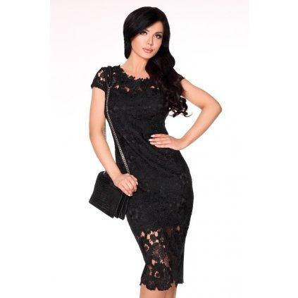 Elegantní krajkové šaty s krátkým rukávem Mimi 1729 MERRIBEL