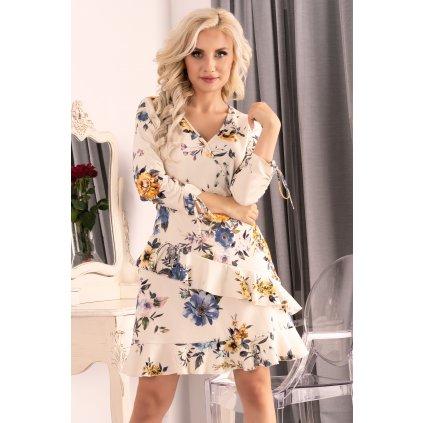 Zavinovací šaty Mistar s volánky a květinami D99 MERRIBEL