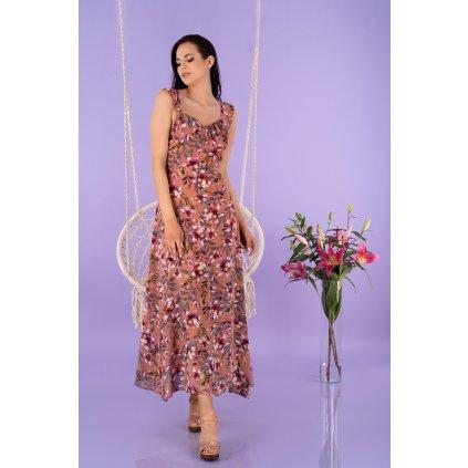 Dlouhé letní šaty Trina na ramínka s odhalenými zády D96 MERRIBEL