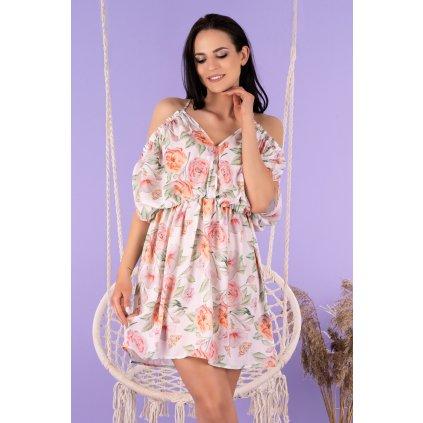 Letní šaty Gabrian na ramínka s odhalenými zády D97 MERRIBEL